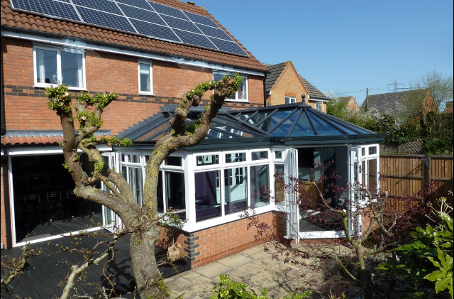 P-shaped conservatory from Realistic Home Improvements