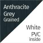 Anthracite Grey Grained & White PVC