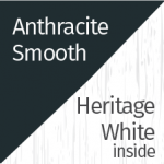 Anthracite Smooth & Heritage White