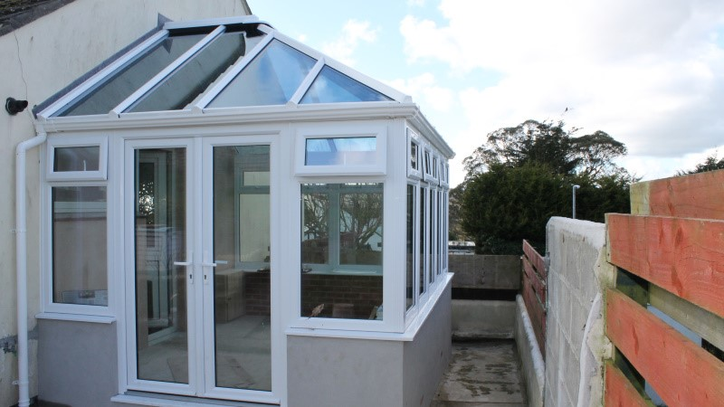 New white uPVC conservatory - Looe, Cornwall - Realistic Home Improvements