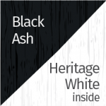 Black Ash & Heritage White