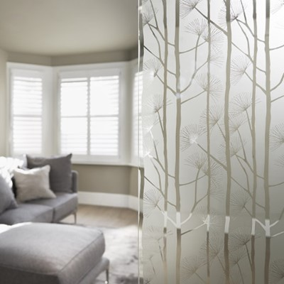 Etched Glass - Burdock Privacy Level 3