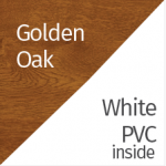 Golden Oak & White PVC