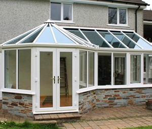 P Shaped Conservatory from Realistic Home Improvements