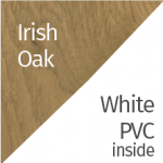 Irish Oak & White PVC